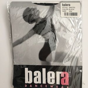 Balera SM2750  Adult Seamless Capri Black Tights